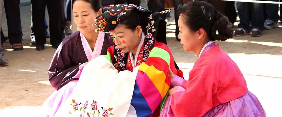 韓國傳統新娘服裝